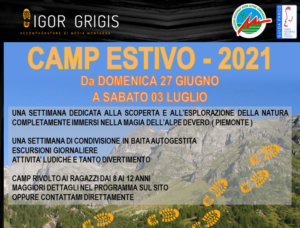 CAMP Estivo 2021 - Alpe Devero @ Alpe Devero